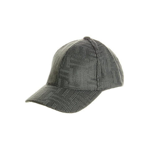 Baseball Cap with Basketweave Knit