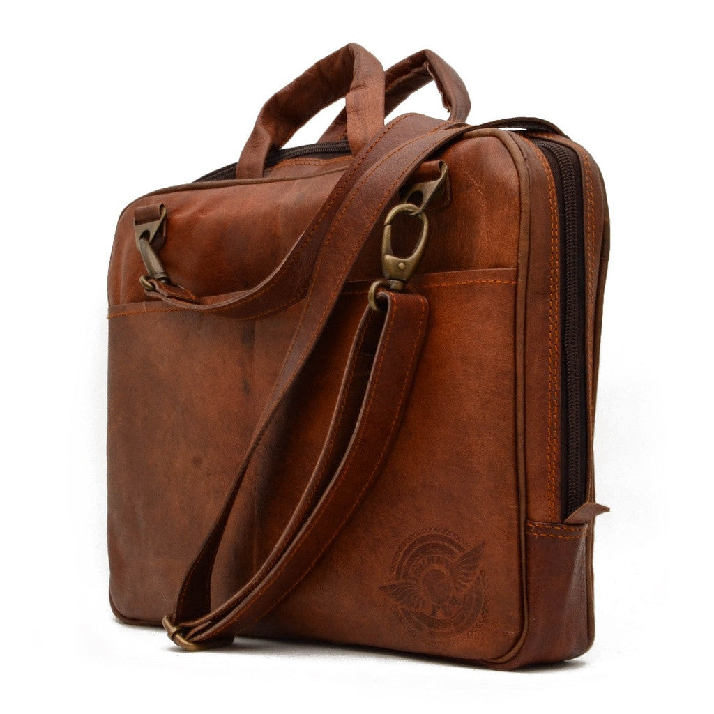Leather Laptop sling bag