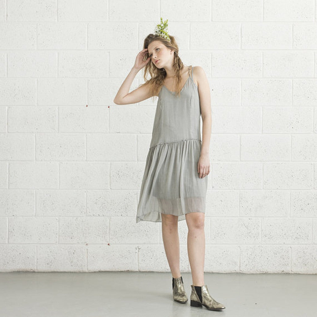 Cocktail Dress - Light Grey.