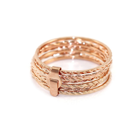 Dainty Rose Gold Stack Rings