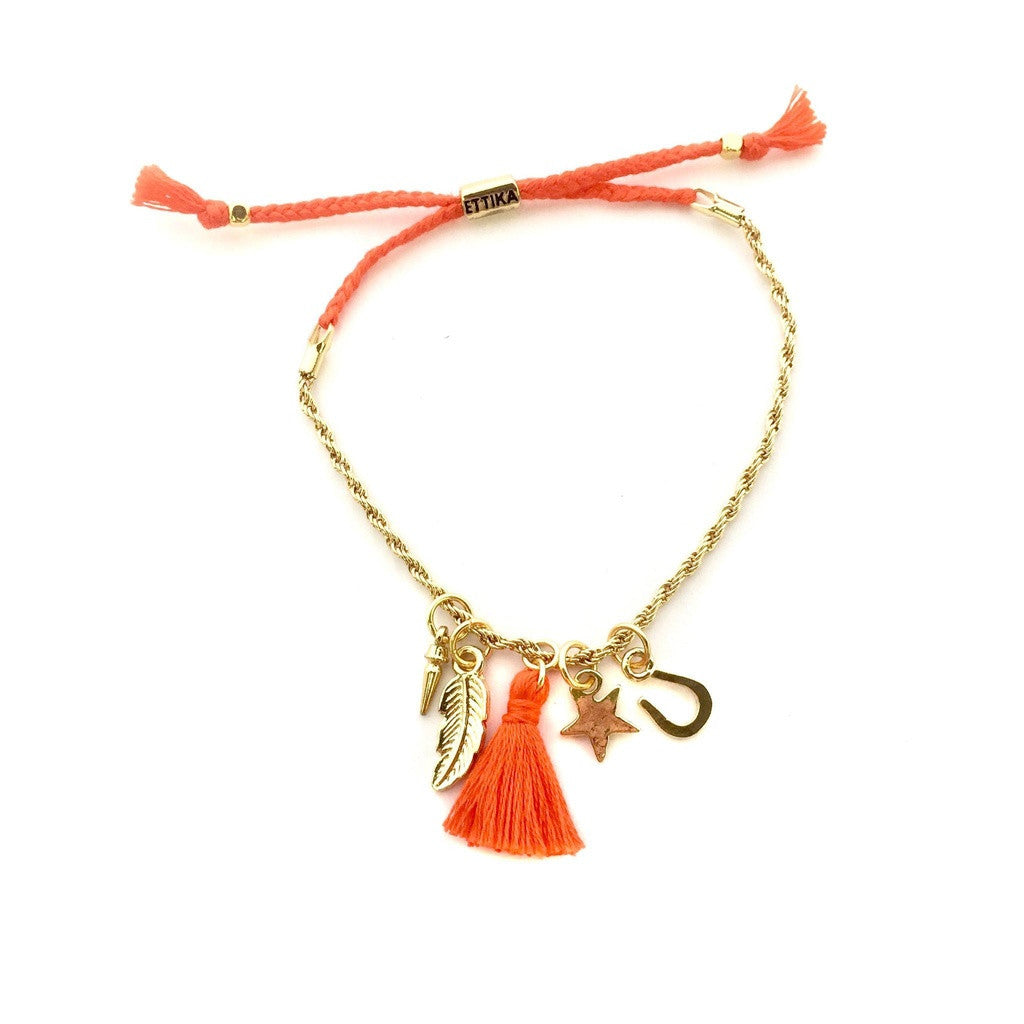 Pretty N' Charming Bracelet in Orange