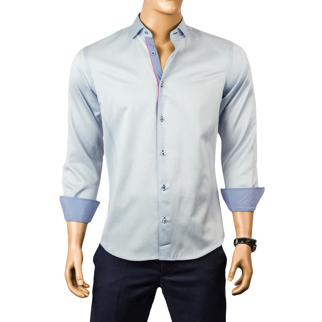 Kennedy Sateen Blue Shirts