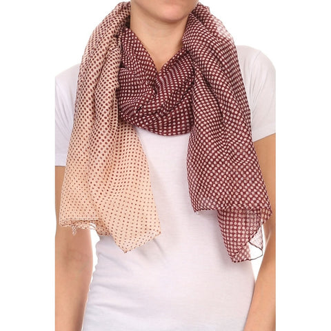 Mini Polka Dot Lightweight Blanket Scarf
