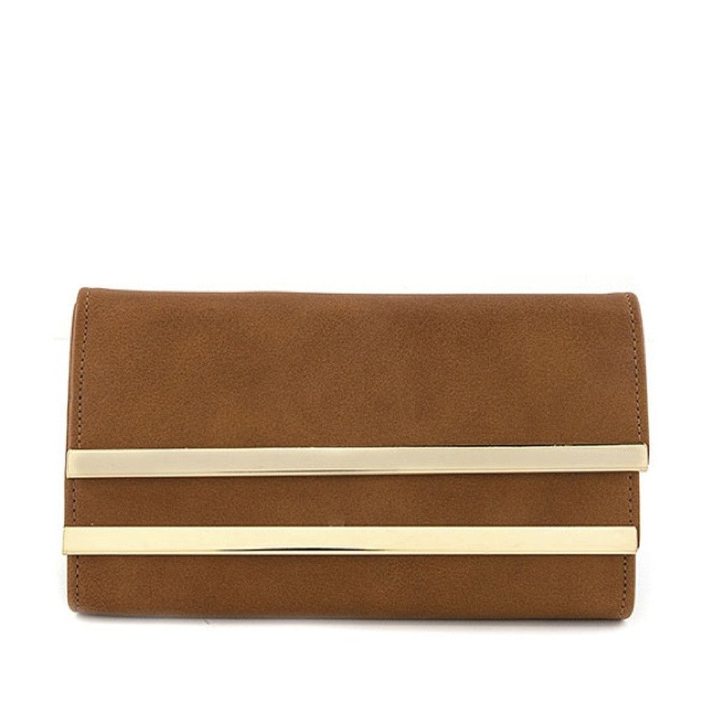 Brown Gold Bar Wallet