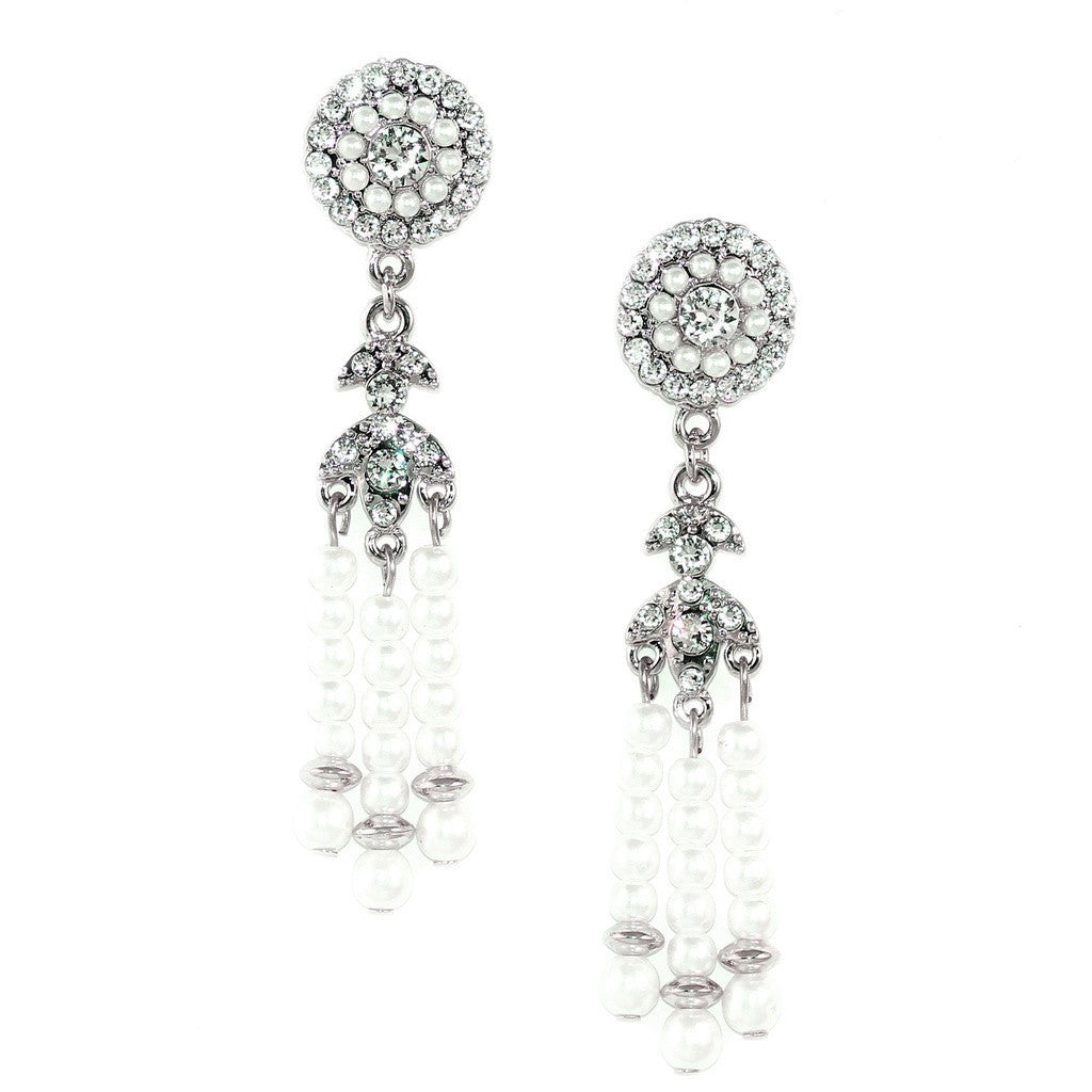 Deco Pearl Tassel Earrings