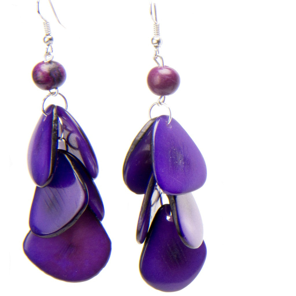 Aurora Tagua Earrings- Peace Love Bling - Shopstara