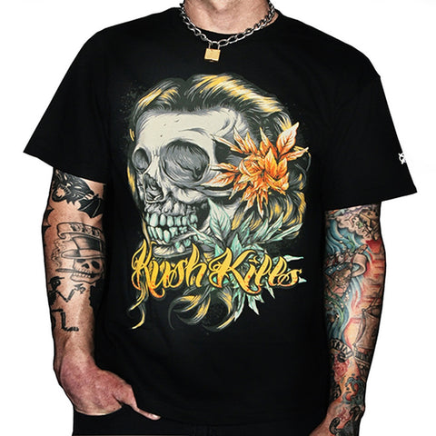 Beautiful Tragedy Mens T-Shirt- Kush Kills Clothing - Shopstara
