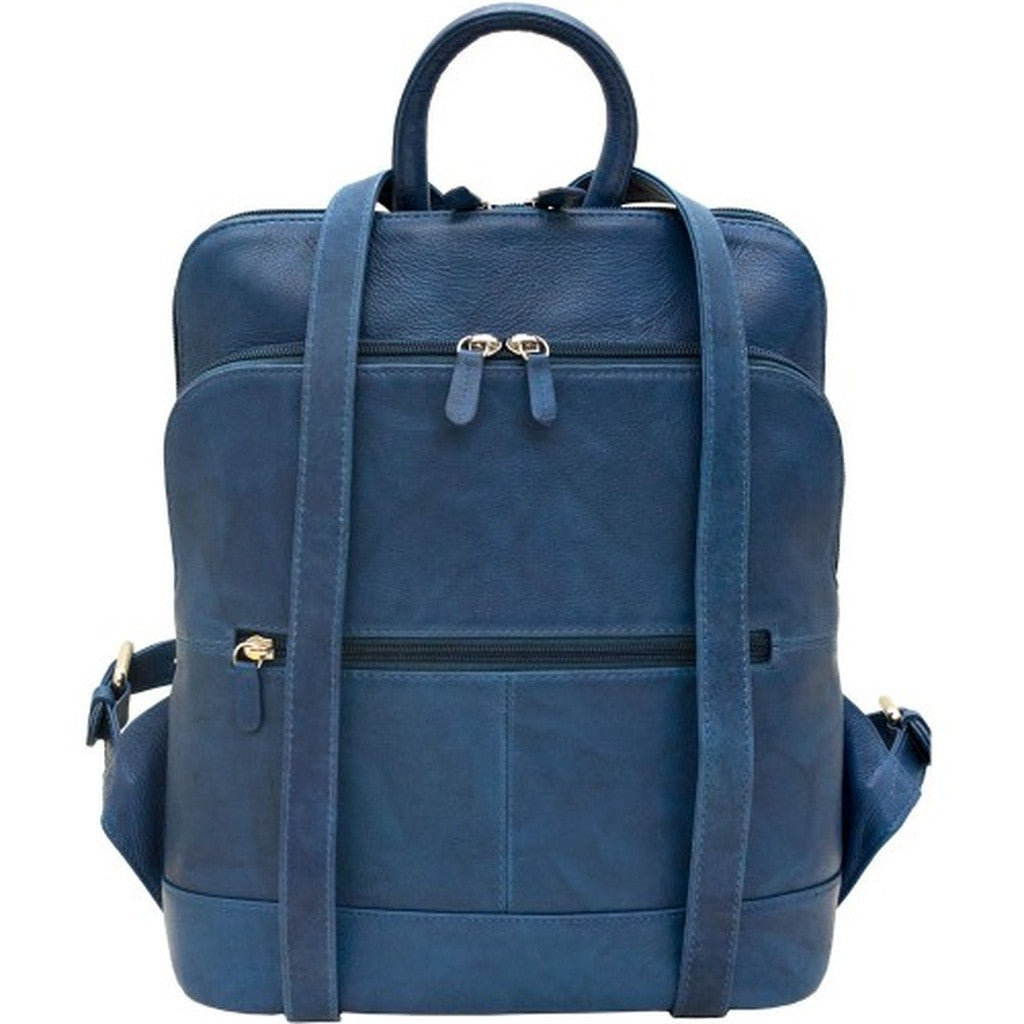 Leather Backpack - Jeans Blue