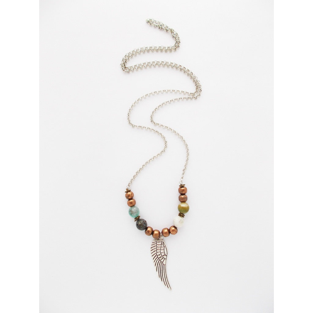 Wing Charm Layering Necklace