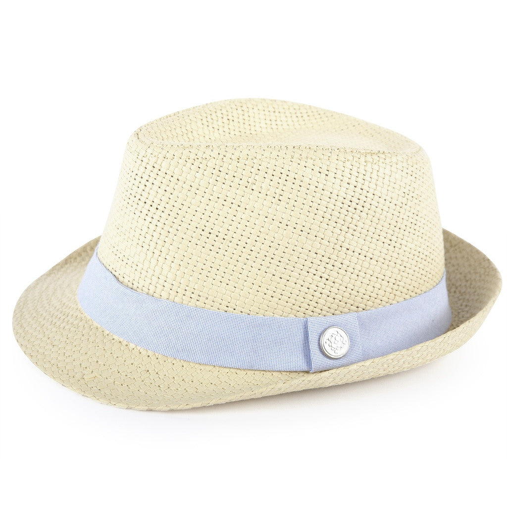 Straw with Oxford Band Fedora