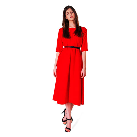 Gallant Midi Red Dress