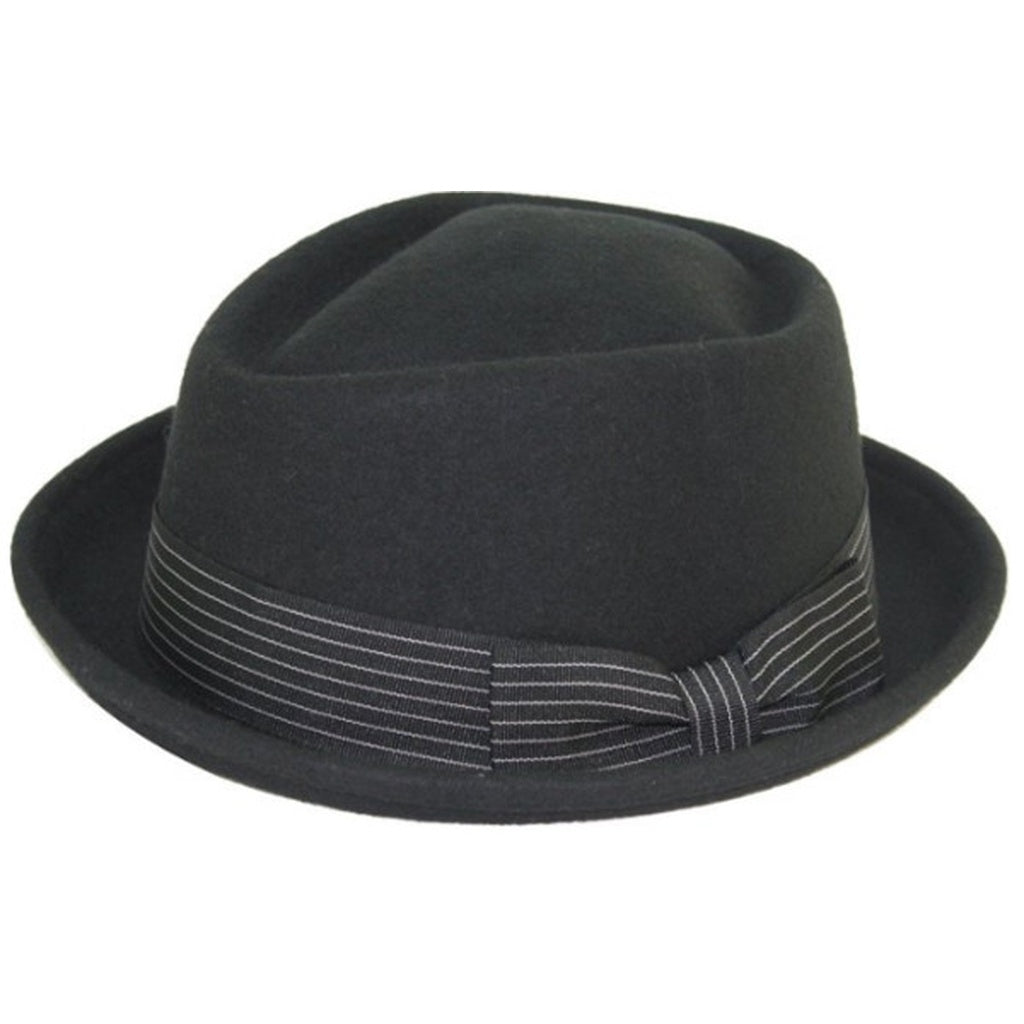 Levine Hat 9th Street Boxer Porkpie Wool Fedora