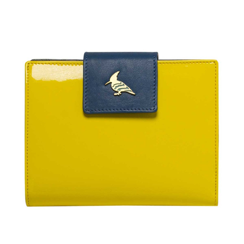 Yellow Patent Leather  Wallet - Wren
