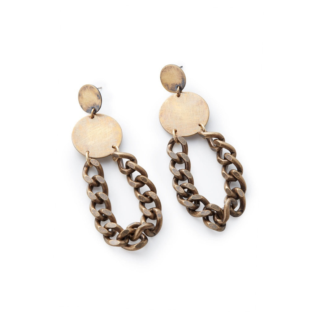Jett Chain Earrings