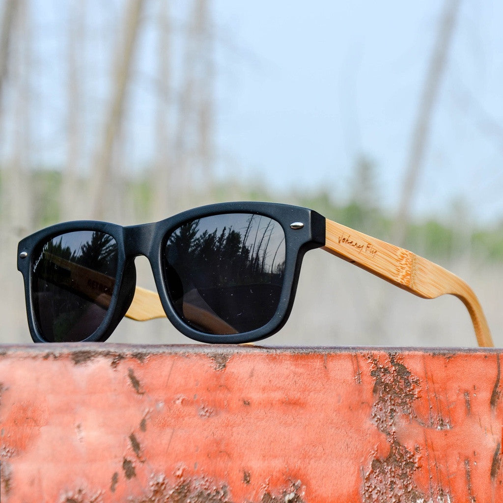 RetroFLY Bamboo Polarized Sunglasses