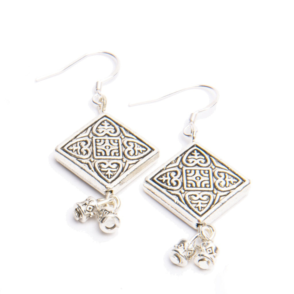 Hope Tibetan Silver Earrings