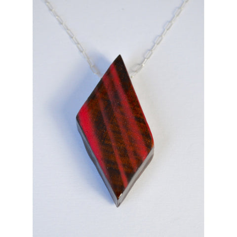 Mens Wood Diamond Necklace