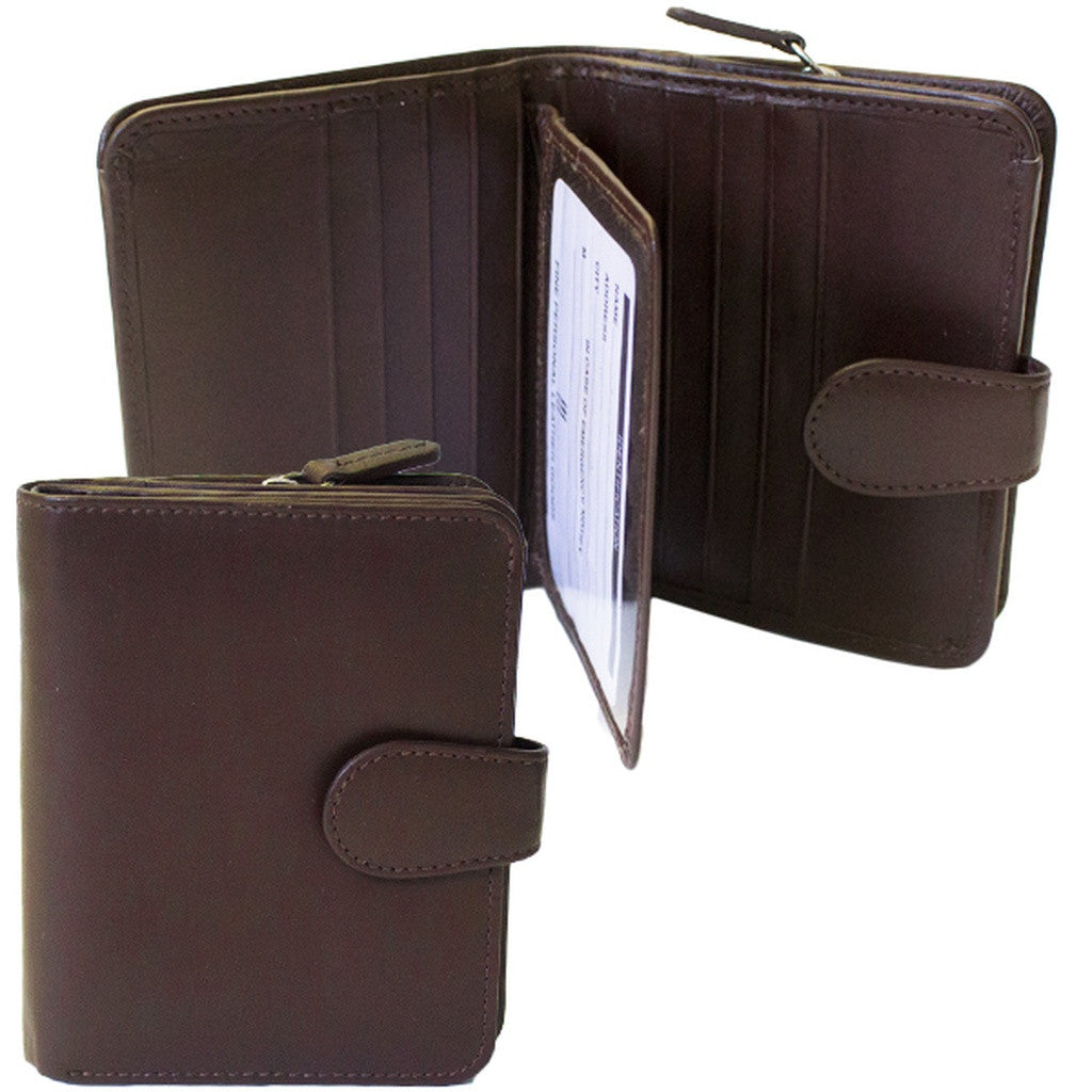 Rfid Blocking Leather Wallet - Brown
