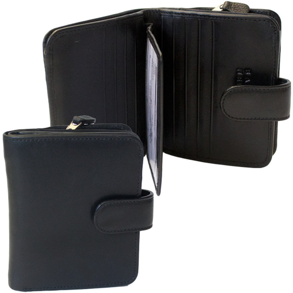 Rfid Blocking Leather Wallet - Black