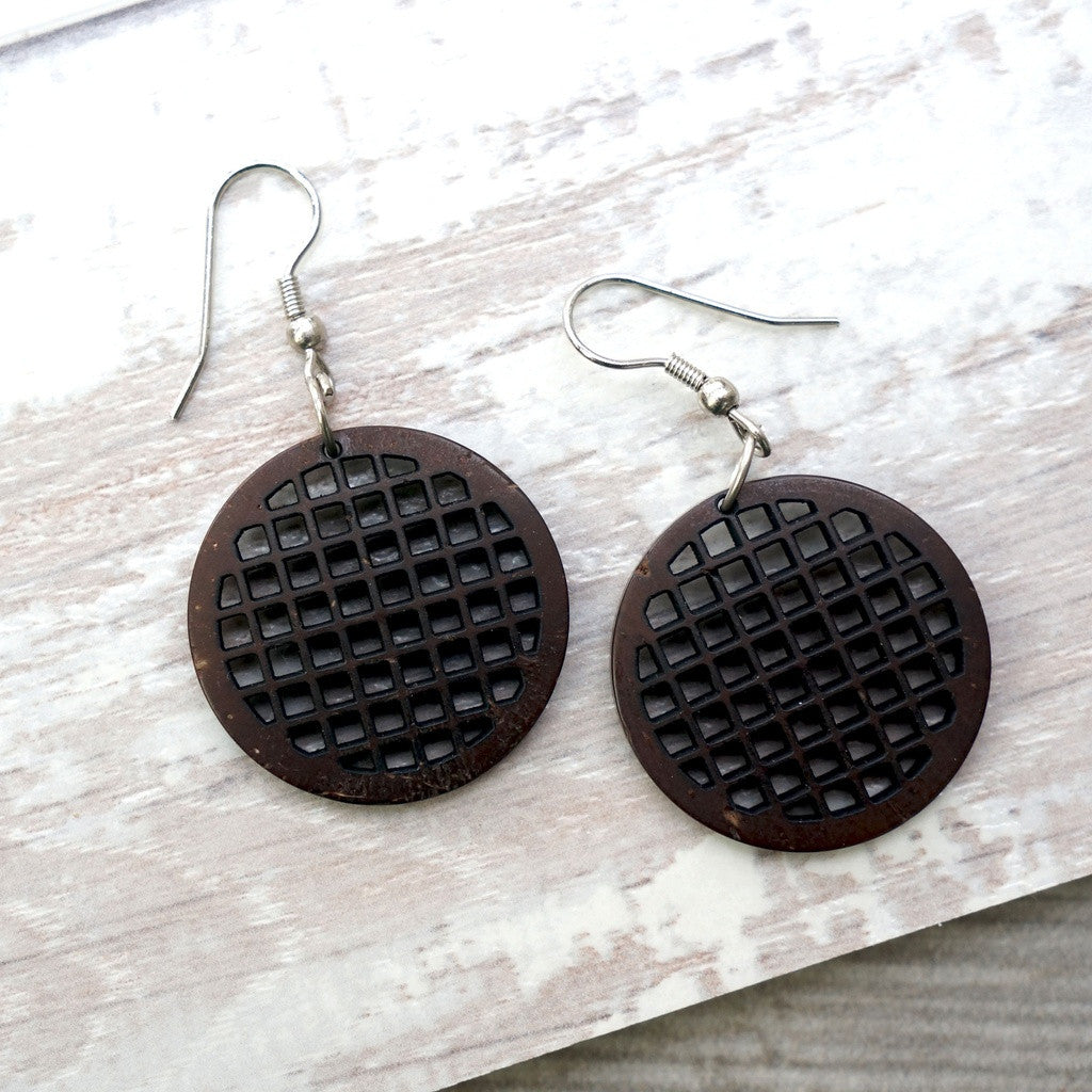 Grid Dangle Earrings
