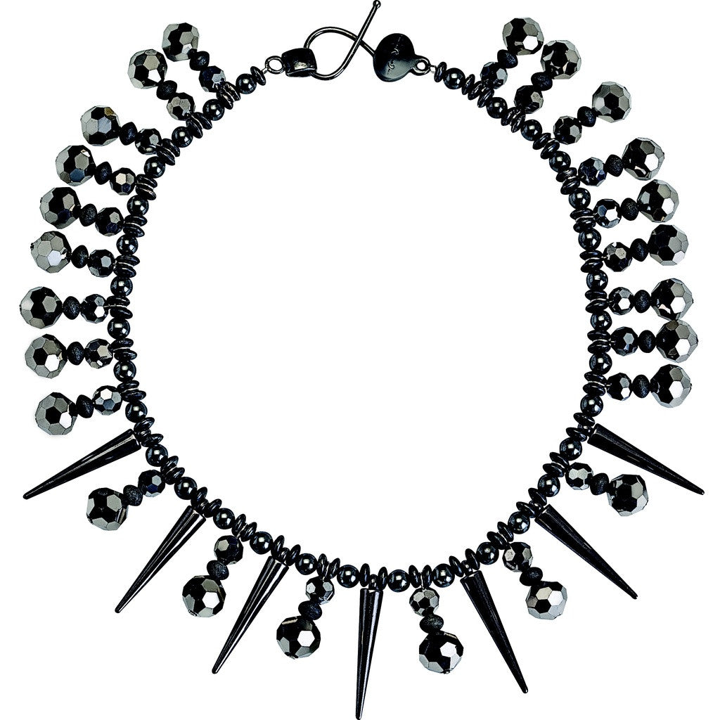 Future Spike Graphite Necklace