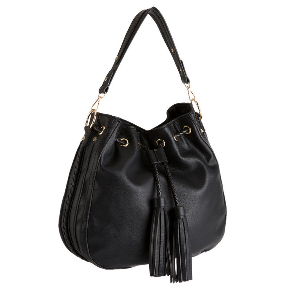 E5052 Cyrus Black Shoulder Bags