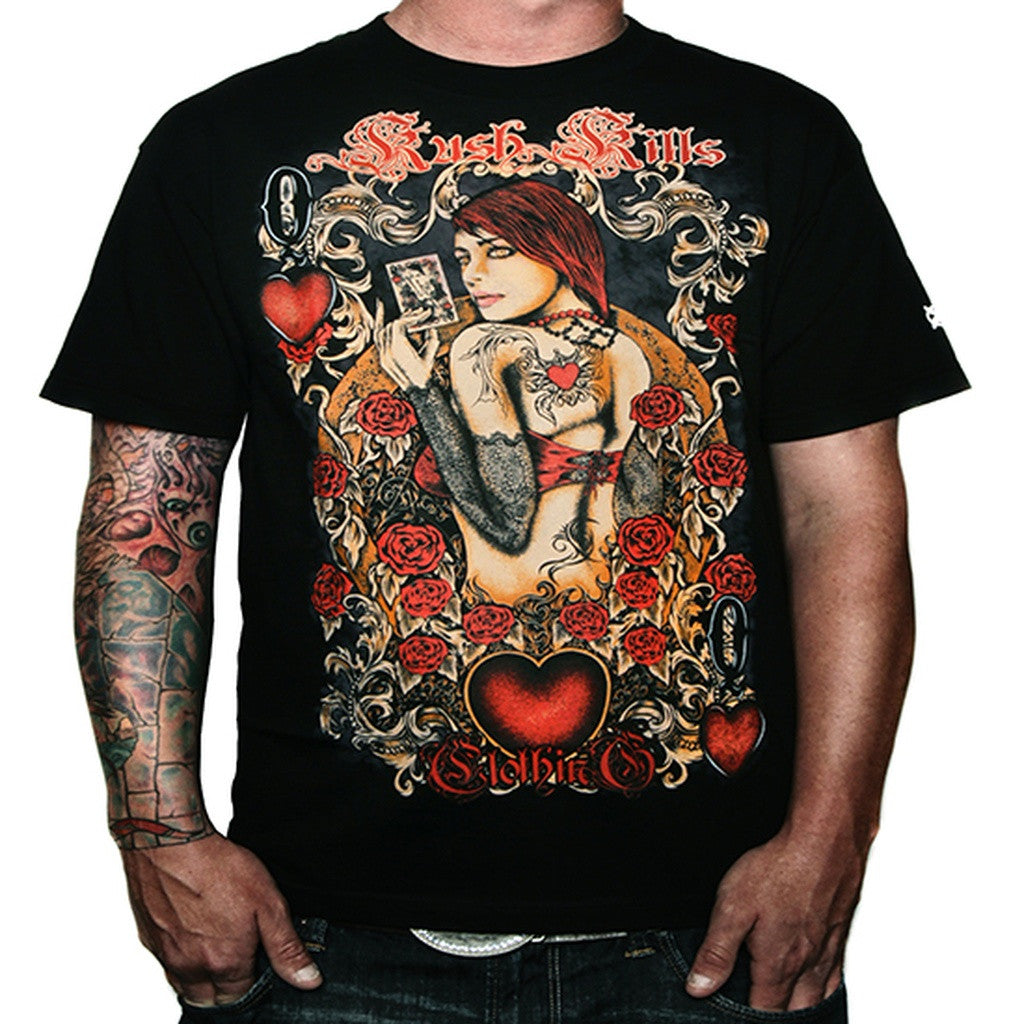 Queen Of Hearts Mens T-Shirts