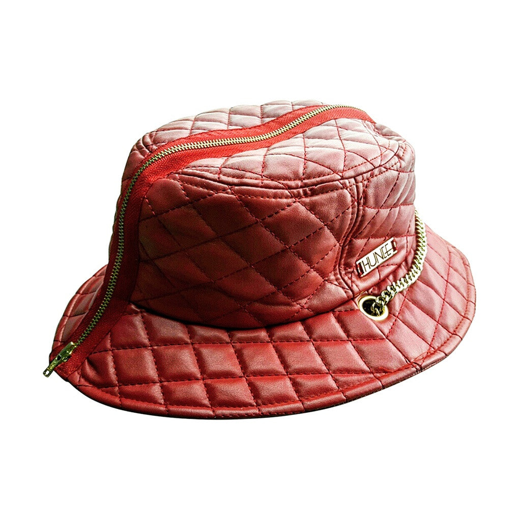 Red Quilted Bucket Hat