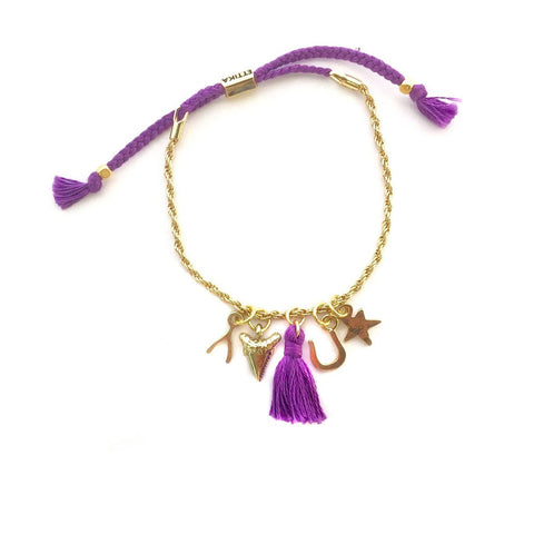Pretty N' Charming Bracelet in Purple