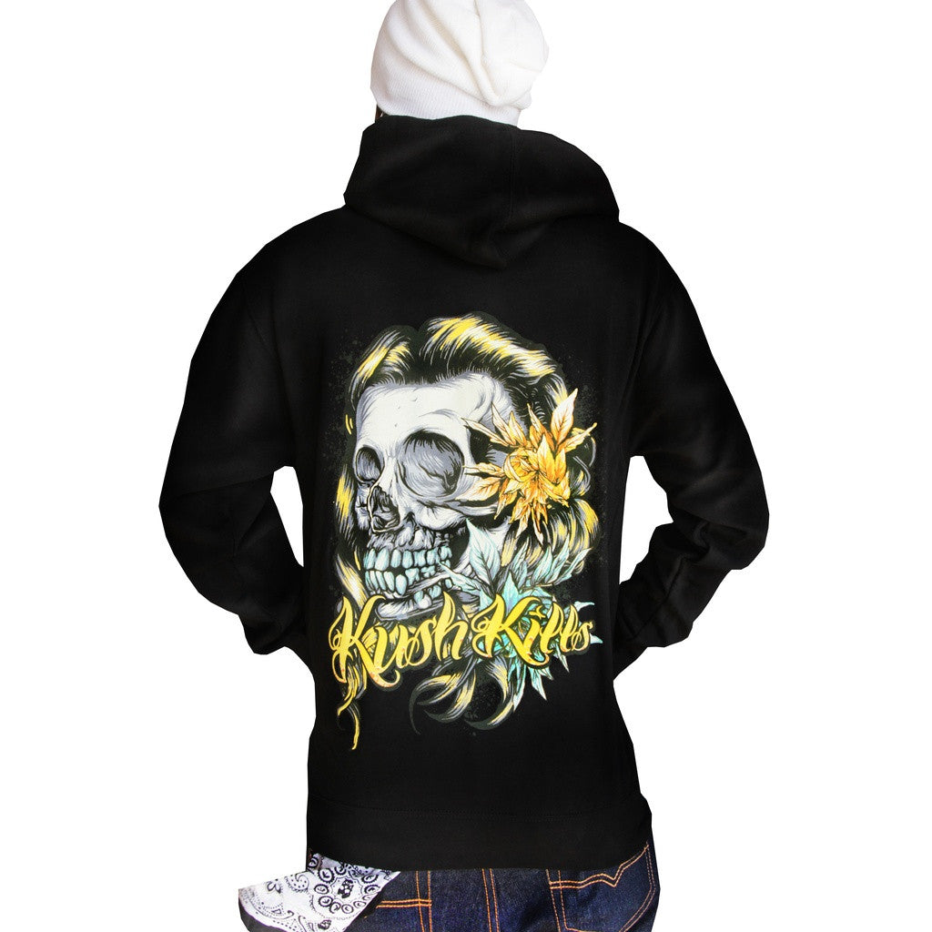 Beautiful Tragedy Zip Hoodie- Kush Kills Clothing - Shopstara