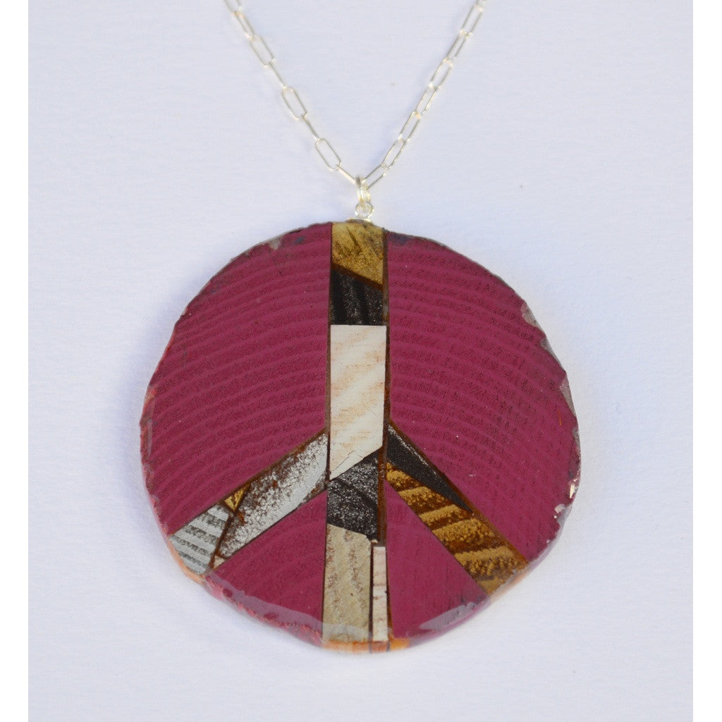 Plum Peace Necklace