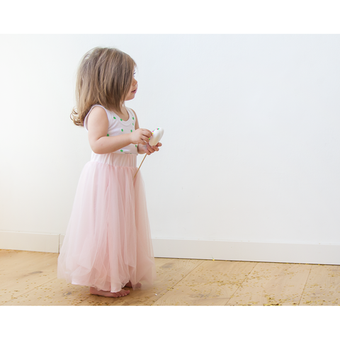 Flower Girl Tulle Maxi Pink Skirt