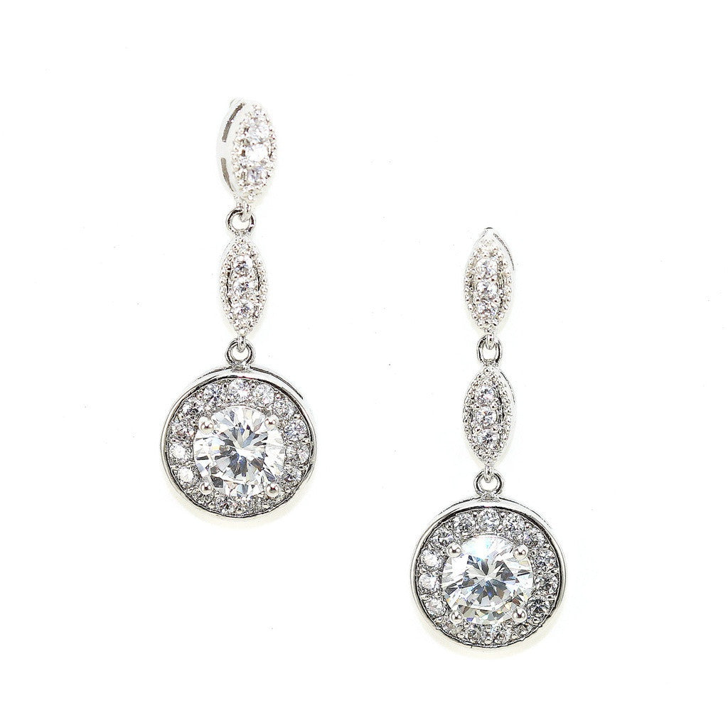 Cz Dangle Drop Earrings