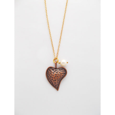Show Your Heart Necklace, In Copper