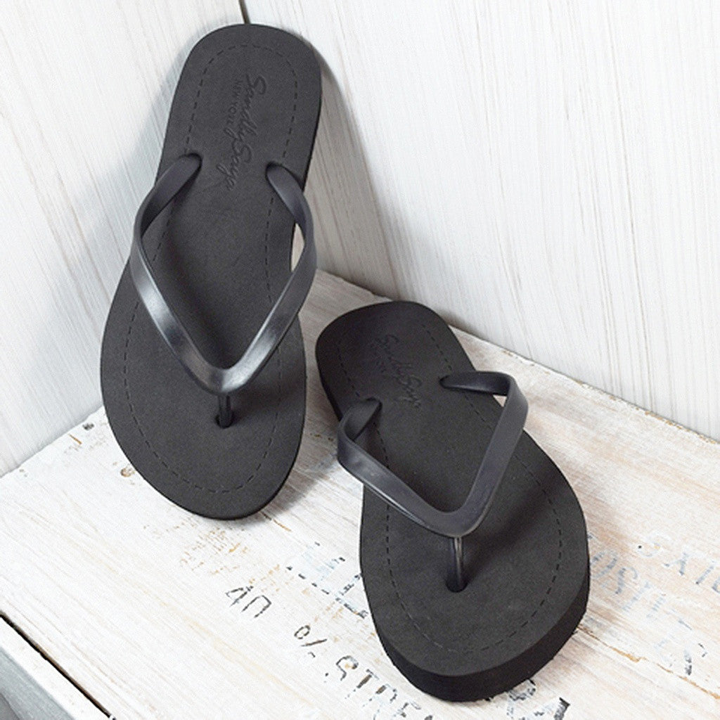 Basic - Flat Sandal- Sand by Saya New York - Shopstara
