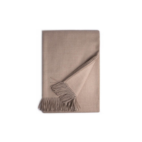Almond Baby Alpaca Throw- Winterfiber - Shopstara