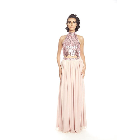 2peace sequins evening crop set- Posh Couture - Shopstara