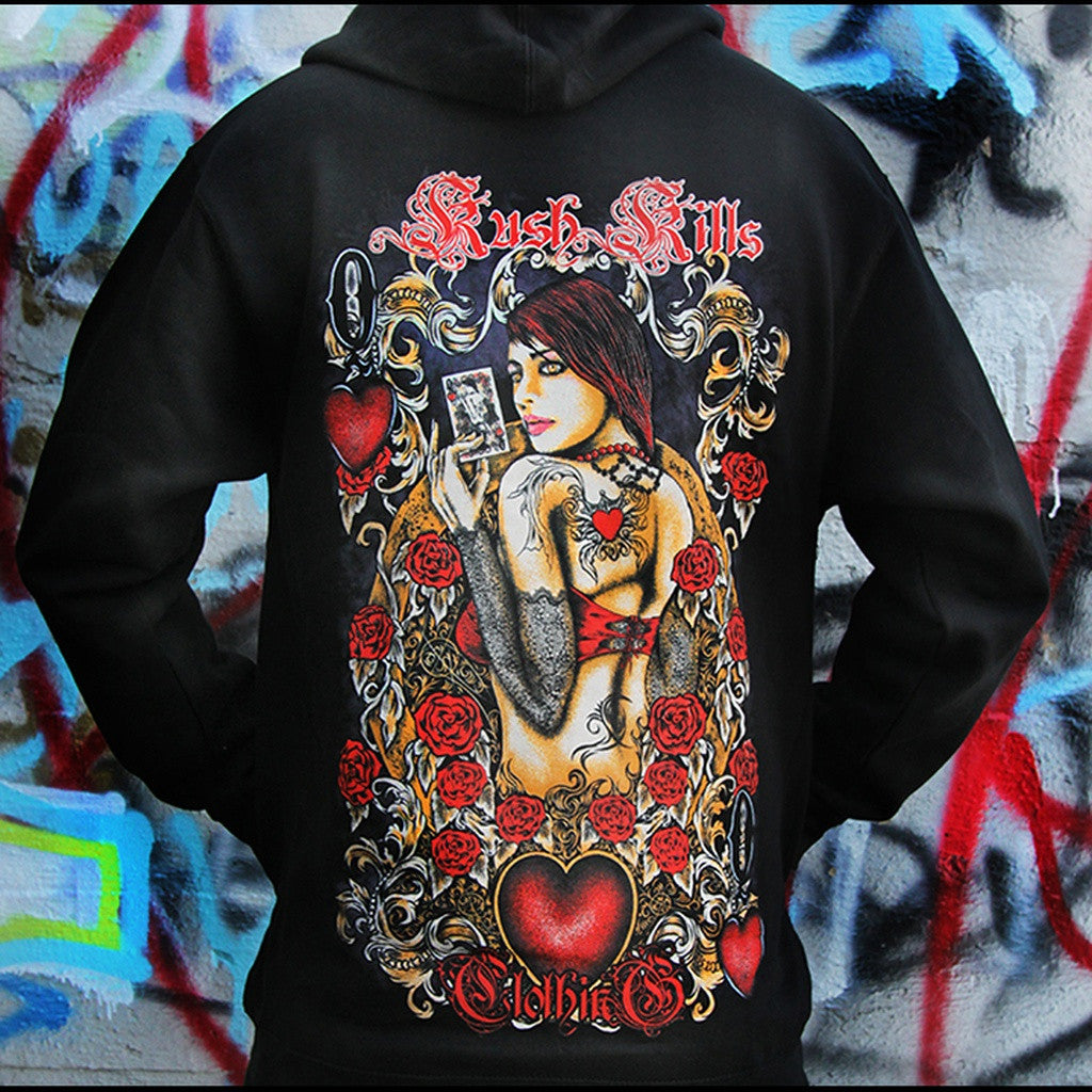 Queen Of Hearts Zip Hoodie