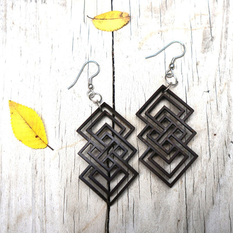Geometric Chandelier Earrings - Unity