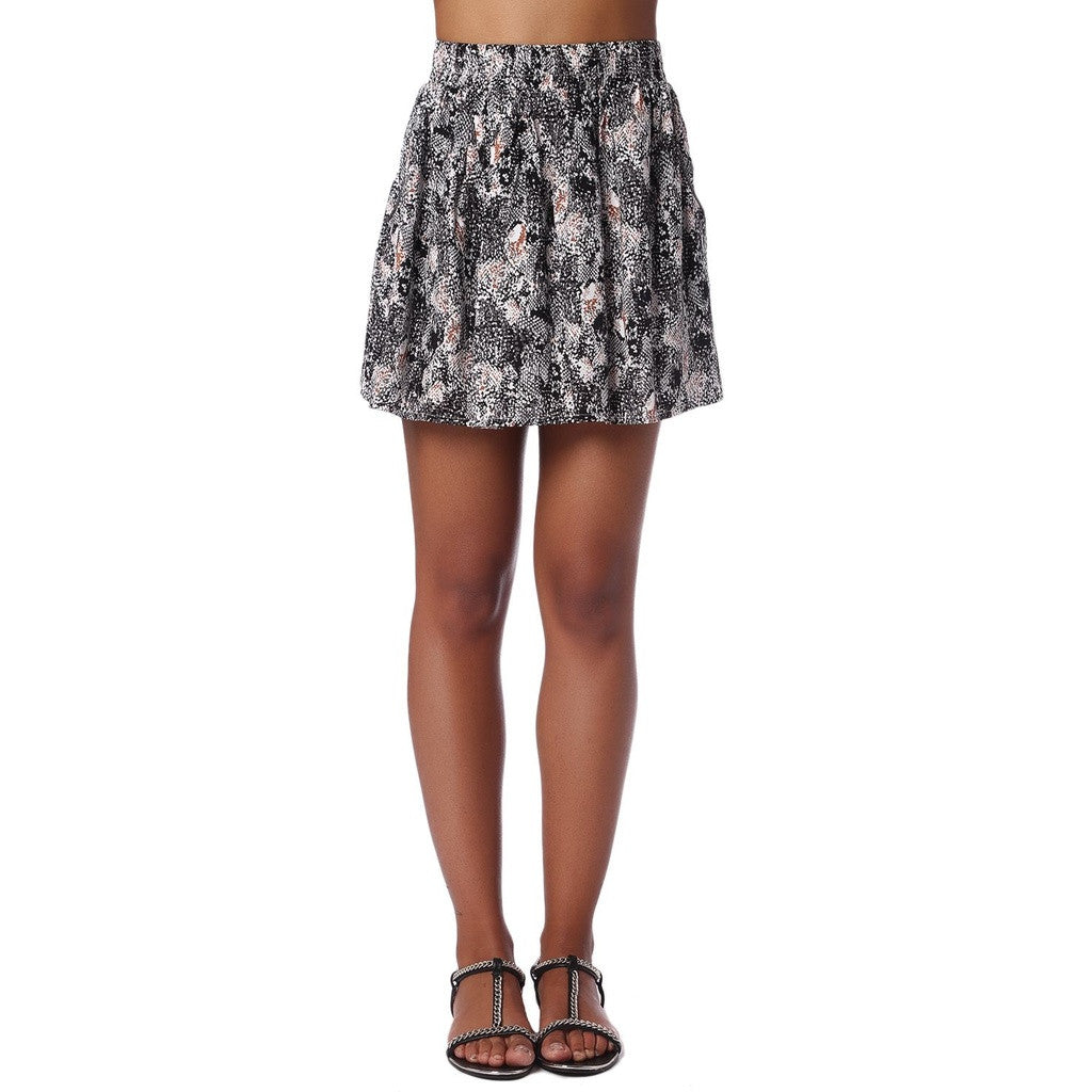 Black Animal Print Flippy Skirt