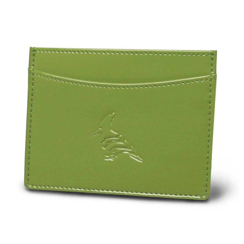 Leaf Green Patent Leather Cardholder Wallet - Pipit