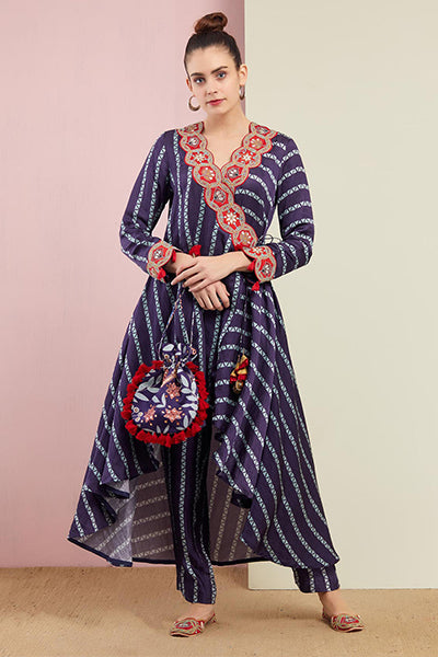 Morbagh Tribal Wrap tunic with Pants