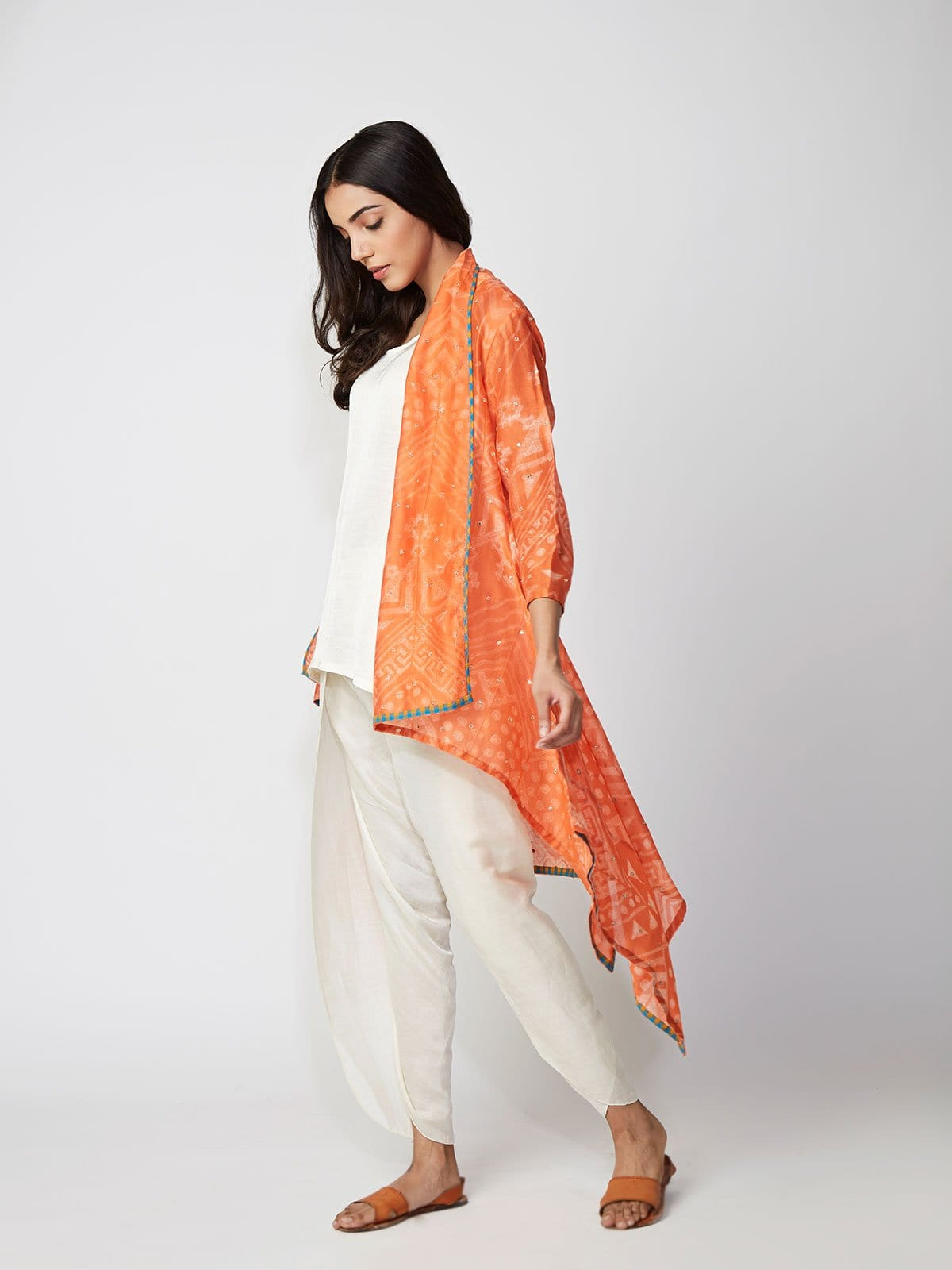 jackets, capes, dhoti pants, contemporary indianwear, modern, summerstyle, shibori, made in jaipur, swativijaivargie