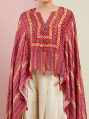 ROSE PINK TRIBAL CAPE SET