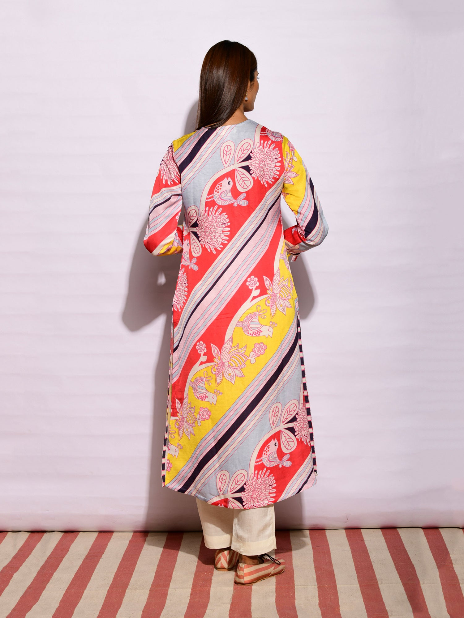 IN BLOOM DIAGONAL PRINTED TUNIC