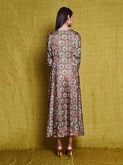 Vintage Garden Fawn Floral Tunic Dress
