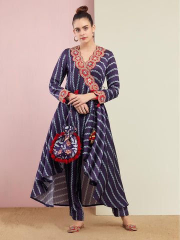 ROSE GOLD TOTA EMBROIDERED KURTA SET