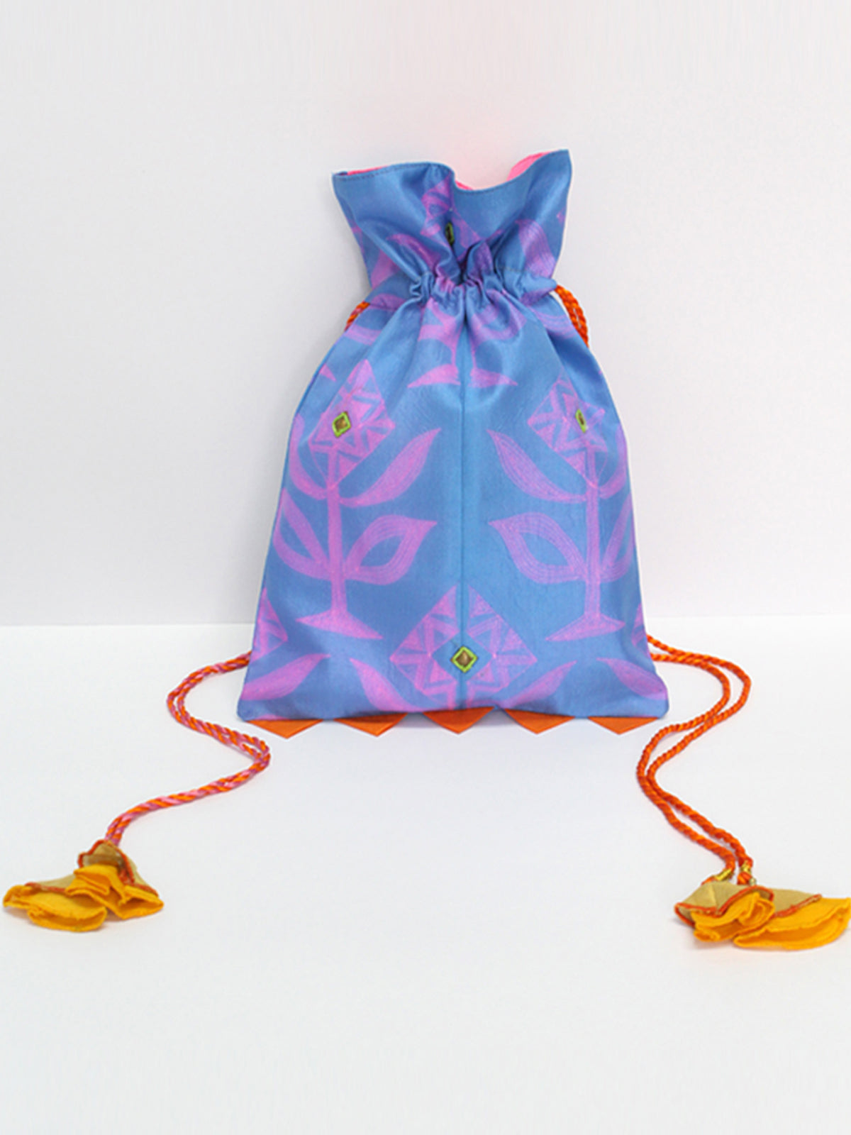 BLUE SHIBORI POTLI BAG