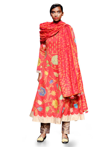 RAAS RED ANARKALI SET