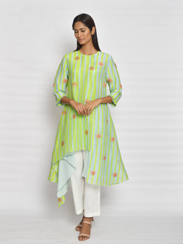 Vintage Garden Mustard Embroidered Kurta Set